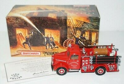 Matchbox Models of Yesteryear 1939 Bedford Pump and Hose Fire Engine Truck COA