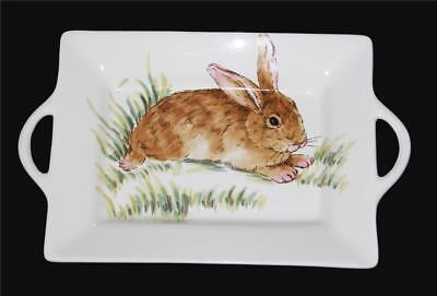 Maxcera Bunny in Grass Rectangle 14-7/8