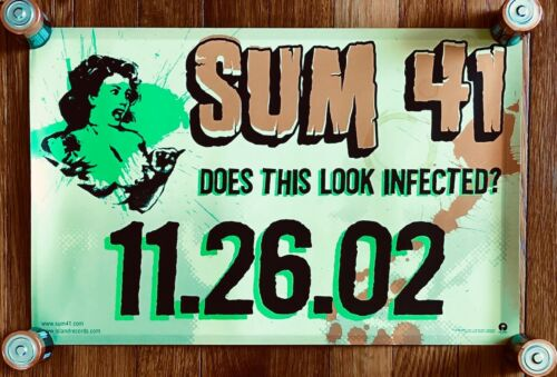 Sum 41 Does This Look Infected? RARE original promo double sided poster 2002
