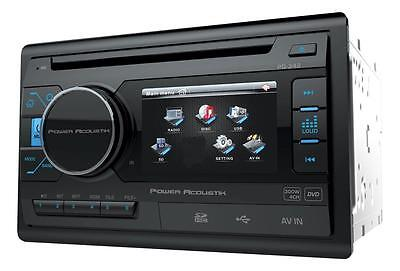 """Power Acoustik Double Din PD-342 CD/DVD/MP3 Player 3.4"""" LCD Display USB AUX New"""