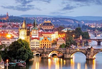 PRAGUE CZECH REPUBLIC SKYLINE GLOSSY POSTER PICTURE PHOTO PRINT bridge view 3734