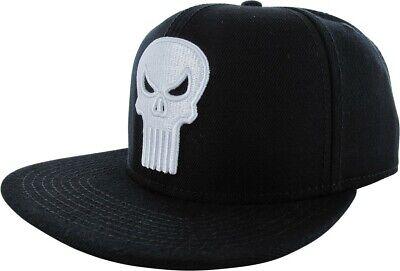 Bioworld Punisher Logo Snap Back Hat Standard Black --adult one size (Standard Hat Size)