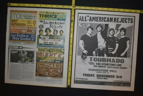 All American Rejects 2005/2006 2PC Concert Ad Lot NJ NYC Tournado