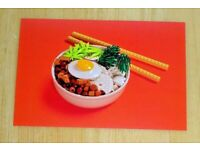 LEGO STILL LIFE WITH BRICKS POSTCARD CHINESE RICE BOWL WITH CHOP STICKS ~ NEW