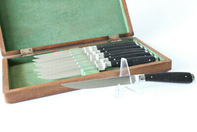Vintage Abercrombie & Fitch Steak Knife Set (8) Stainless, Made in Germany