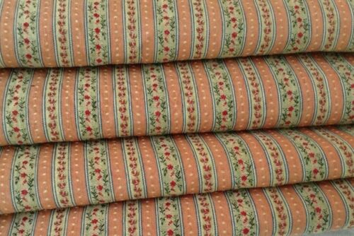 Antique French Fabric Small Scale Woven 19th Century Dolls Sewing Projects