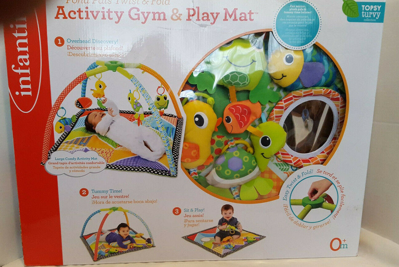 Infantino Activity Gym And Play Mat Pond Pals Easy Twist and