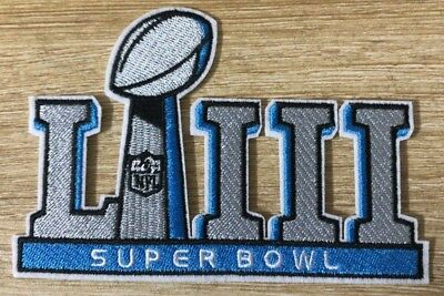 NFL SUPER BOWL LIII 53 2019 JERSEY PATCH IRON ON PATRIOTS VS RAMS 3.25