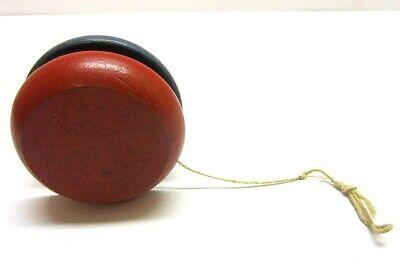 Vintage Red Blue Top Gropper Up-N-down Wood Yo Yo Yoyo