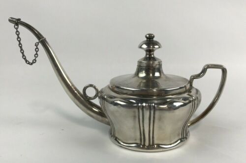 Antique c1895-1899 S. STERNAU & CO. Silverplated Oil Lamp Filler