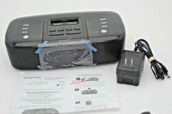 Memorex MI4290PBlk Clock Radio For IPhone and Ipod MI4290 Refurbished