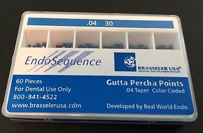 1 New Pack Of Brasseler Endosequence Gutta Percha Points. Size 30 Taper .04.