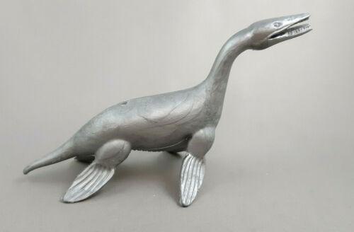 Marx Kronosaurus Dinosaur 1950s Prehistoric Vintage Metallic Silver Color Figure