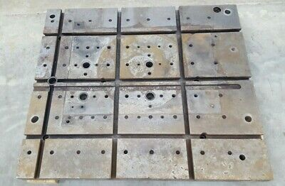T-slot Steel Fixturemounting Plate Slotted Table 26 X 29.5 Used