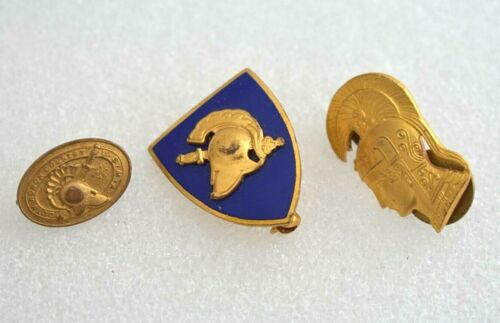 Vintage Spartan Pin Lot Gold Filled West Point USMA Academy Duty Honor Country