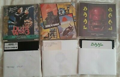 Commodore 64 C64 Computer Floppy Disk Games Baal Death Wish 3