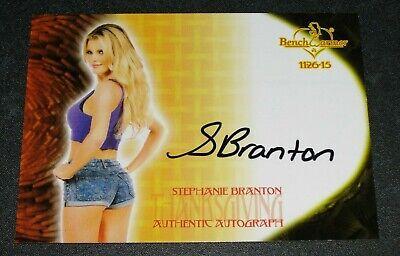 2015 Benchwarmer STEPHANIE BRANTON Thanksgiving Black Ink Auto PLAYBOY Playmate - Playboy Thanksgiving