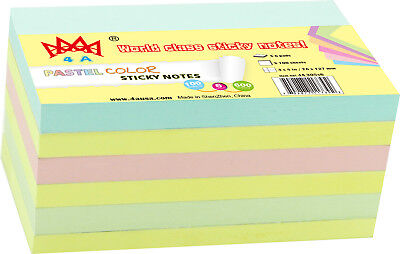 4a Sticky Notes Memo Reminder 3 X 5 Office Supplies 6 Pads Total 600 Sheets
