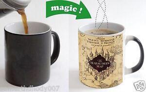 Marauders Map Harry Potter Color Changing Magic black heat sensitive Coffee Mug