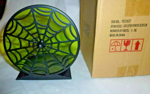 Yankee Candle SPIDERWEB SCREEN JAR HOLDER- Green/Black- Brand New in Box