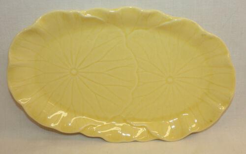 Lotus Metlox Poppytrail Vernon Canary Yellow Relish Cracker Dish Tray Plate