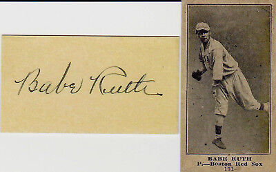 1916 Reprint Babe Ruth Boston Red Sox Rookie Card   151 Plain Back W  Autograph