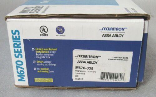 Securitron ASSA ABLOY M670-335 Magnalock Satin Black 1100 lbs force [CTNO]