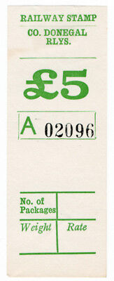 (I.B) County Donegal Railway : Parcel Stamp £5