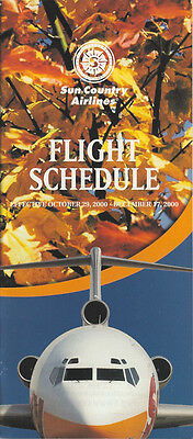 Sun Country Airlines System Timetable 10 29 00  5112   Buy 4  Save 50