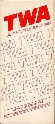 TWA system timetable 7/1/85 [308TW] Buy 2 Get 1 Free