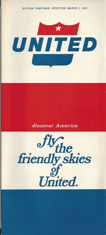United Airlines system timetable 3/1/66 [0051]