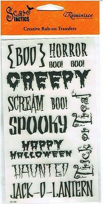 Reminisce - Halloween Creepy Words Scrapbooking Rub Ons - 105