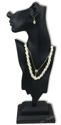 Jewelry Mannequin Display Earring Display Necklace Display Stand Black 19.5 Tall