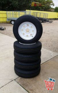BRAND NEW TRAILER RIMS & TYRES (NORTH - BURTON) Burton Salisbury Area Preview