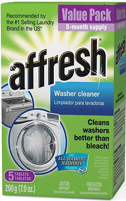 Affresh Washer Cleaner Tablet for Residue/Odor/Mildew 5 PAK W10135699 W10549846