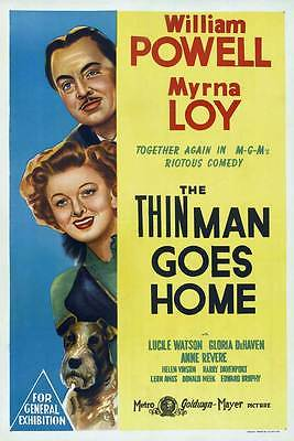 THE THIN MAN GOES HOME Movie POSTER 27x40 Australian