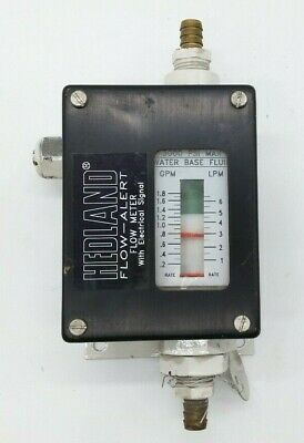 Hedland Flow-alert With Electrical Signal 0.2-1.8 Gpm Flow Meter