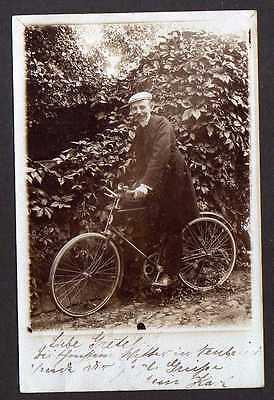 93523 AK Fotokarte Fahrrad Grossschwülper 1906 All Heil