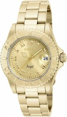 Invicta Women's Watch Angel Champagne Dial Dive Yellow Gold Bracelet 16849