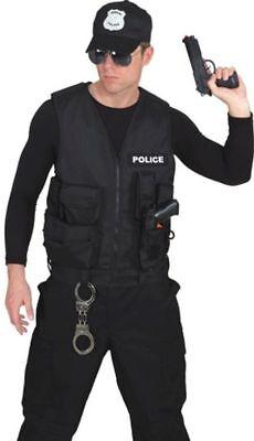 Polizei Weste zum Herren Kostüm Polizist an Karneval Fasching
