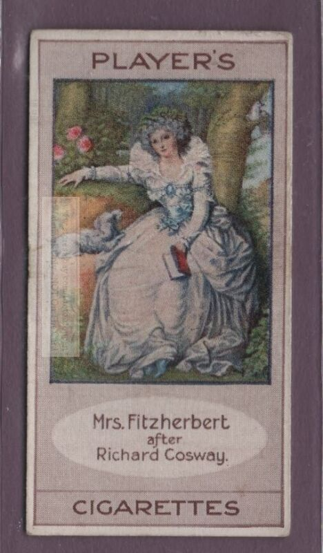 Mrs. Fitzherbert Wife of English King George IV 100+ Y/O Trade Ad Card