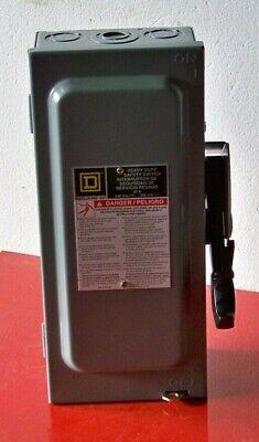 H221n 30 Amp 240 Volt 2 Pole Square D Safety Switch Nema 1 Fusible Wneutral
