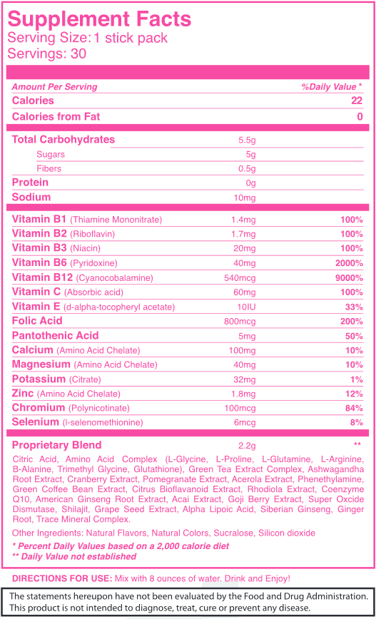 PINK for WOMEN by BHIP GLOBAL Natural Energy & Fitness with Dietary Supplements 5