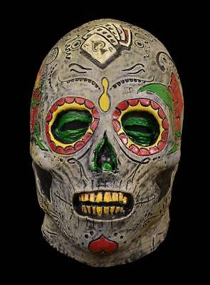 Day Of The Dead Zombie Latex Mask Classic Skull Design Halloween NWT (Day Of The Dead Zombie Halloween Mask)