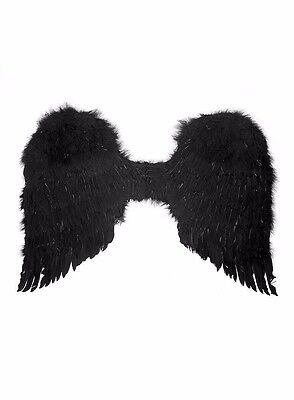 schwarze Federflügel dark Angel Wings groß black Swan Kostümflügel Engel - Kostüm Dark Angel Flügel