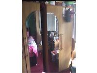 3 Wardrobes mirrored