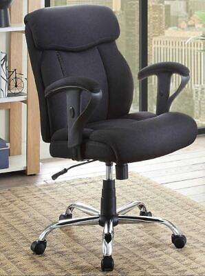 Black Mesh Fabric Big Tall Manager Chair Serta Office 300 Lbs Cap. Heavy Duty