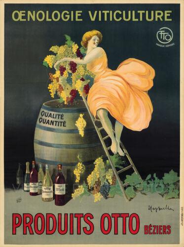 French Wine Otto 1912 Cappiello Vintage Liquor Advertisement Canvas Print 20x27