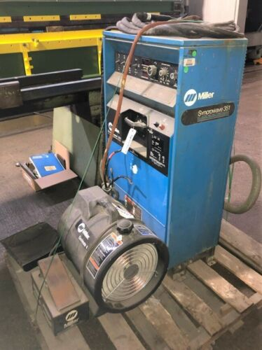 Miller Syncrowave 351 TIG Welder, Water Cooled, Foot Pedal, 2 Leads,Free Loading