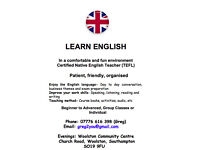 English Classes. General English group classes or one-to-one.